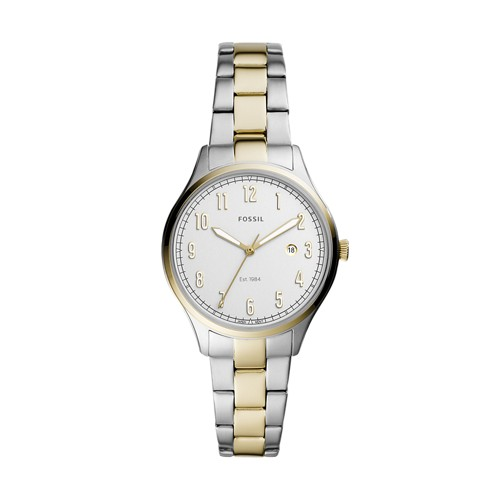 Lady Forrester Three-Hand Date Two-Tone Stainless Steel Watch ES4869
