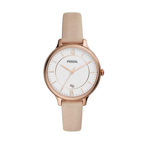 Winnie Three-Hand Blush Leather Watch ES4872
