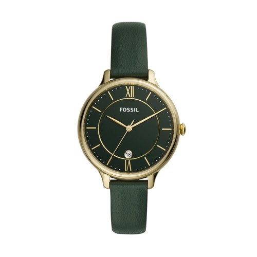 Fossil Winnie Three-Hand Dark Green Leather Watch  jewelry
