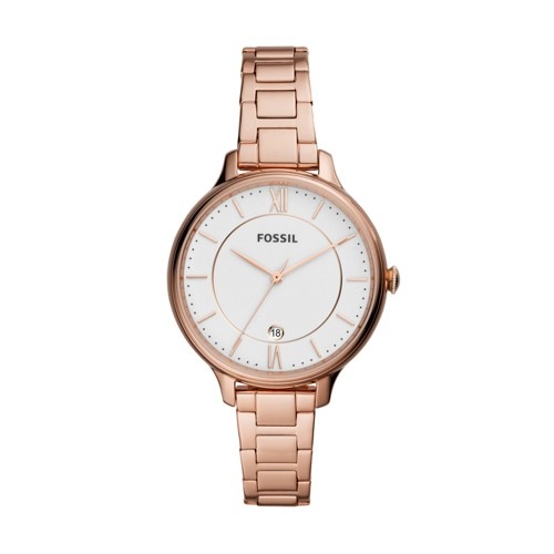 Winnie Three-Hand Rose Gold-Tone Stainless Steel Watch ES4874