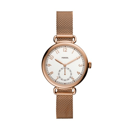 Josey Three-Hand Rose Gold-Tone Stainless Steel Watch ES4884