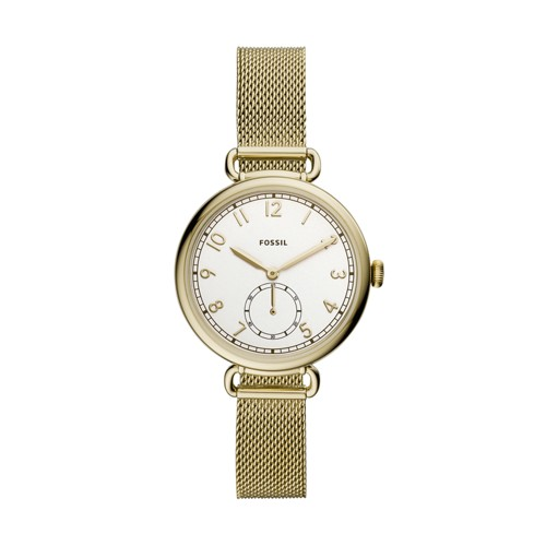 Josey Three-Hand Gold-Tone Stainless Steel Watch ES4887