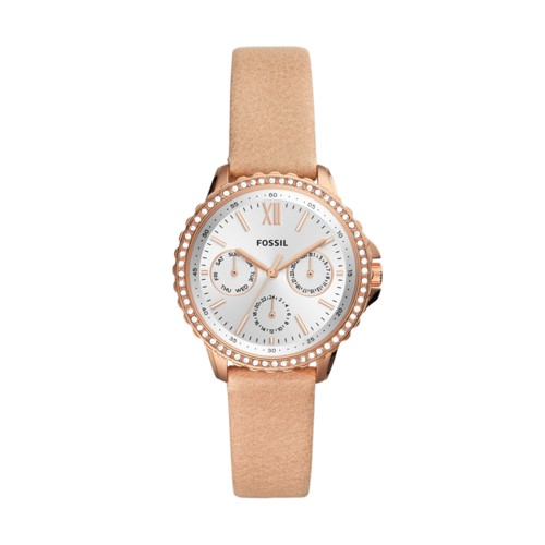 Fossil Izzy Multifunction Blush Leather Watch  jewelry
