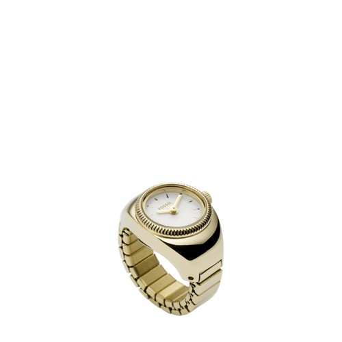 Fossil Gold-Tone Stainless Steel Watch Ring FCU0193710
