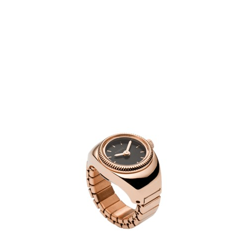 Rose Gold-Tone Stainless Steel Watch Ring FCU0194791
