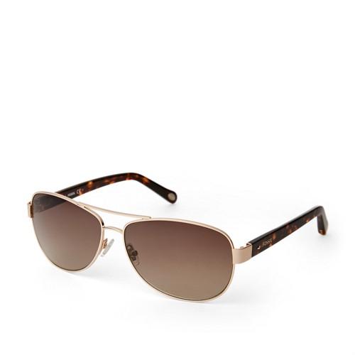 dd554329eef2 Fossil Aviator Sunglasses Womens
