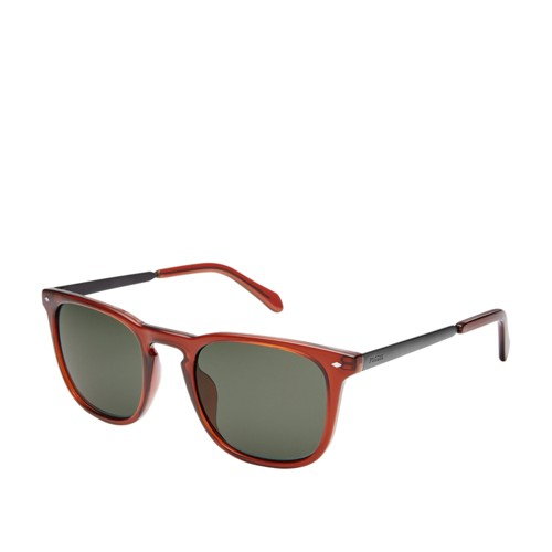 Fossil Tanglewood Rectangle Sunglasses FOS3087S02LF