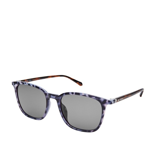 Fossil Weldon Rectangle Sunglasses FOS3091S0JBW