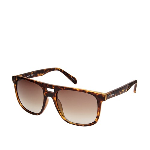 Fossil Duval Rectangle Sunglasses  Accessories