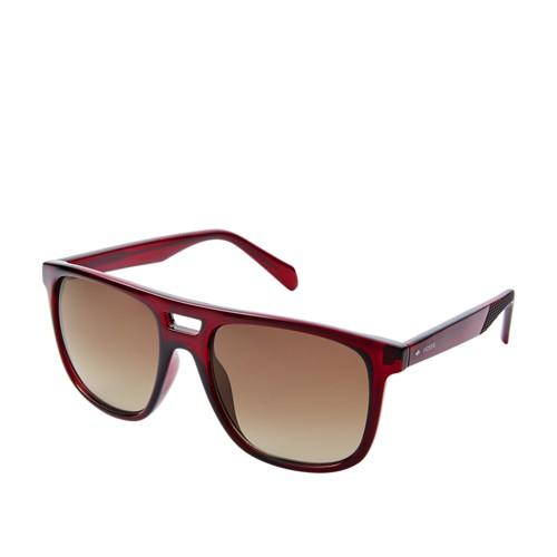 Fossil Duval Rectangle Sunglasses  Accessories