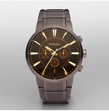 Fossil 4357 Chronograph Bronze Dial