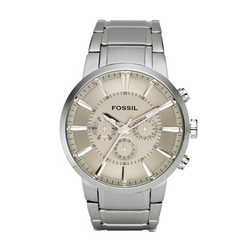 Fossil Dress Chronograph Stainless Steel Watch Two-Tone - FS4359