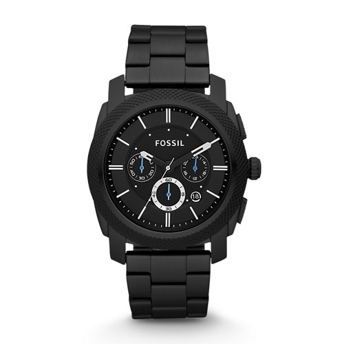 fossil Machine Chronograph Black Stainless Steel Watch FS4552