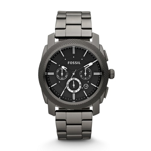 Fossil Machine Chronograph Smoke Stainless Steel Watch FS4662