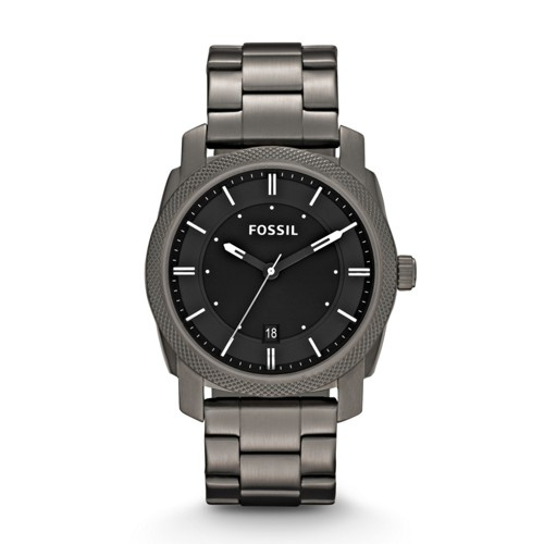 fossil Machine Smoke Stainless Steel Watch FS4774