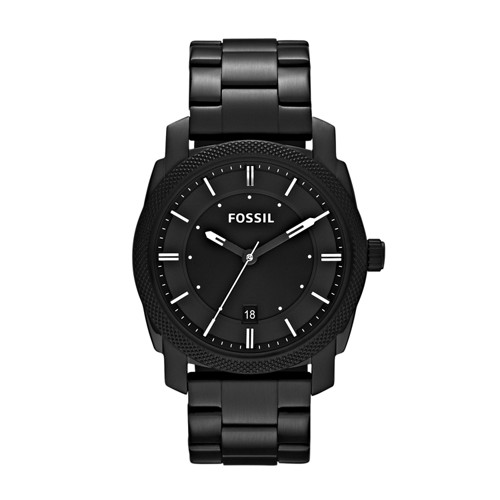 Fossil Machine Black Stainless Steel Watch Fs4775 Black