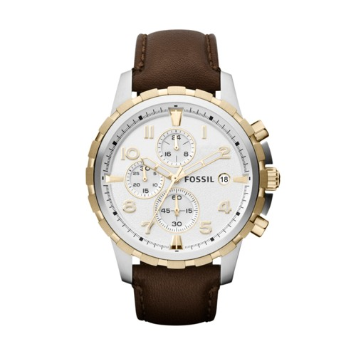 fossil Dean Chronograph Brown Leather Watch FS4788
