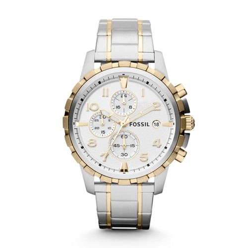 fossil Dean Chronograph Stainless Steel Watch FS4795