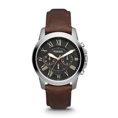 Grant Chronograph Brown Leather Watch FS4813IE