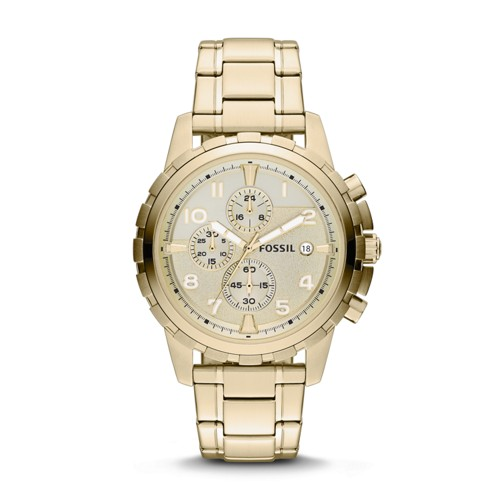 Fossil Dean Chronograph Gold-Tone Stainless Steel Watch FS4867