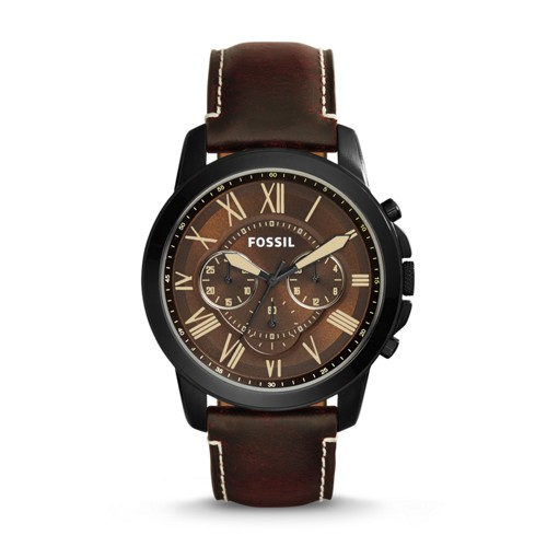 Grant Chronograph Brown Leather Watch FS5088