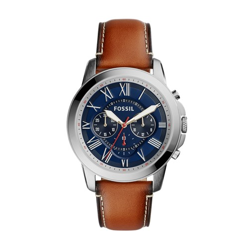 Fossil Grant Chronograph Light Brown Leather Watch FS5210IE