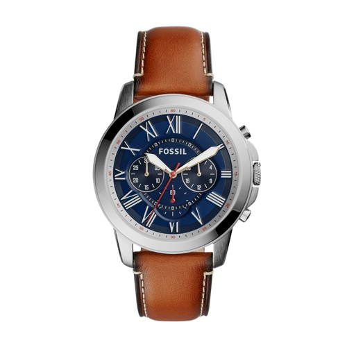 Fossil Grant Chronograph Light Brown Leather Watch Fs5210