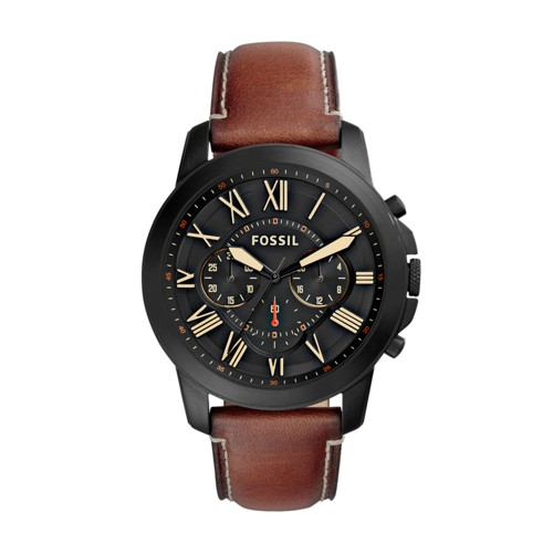 Fossil Grant Chronograph Luggage Leather Watch FS5241