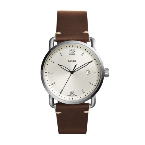 Fossil The Commuter Three-Hand Date Brown Leather Watch FS5275