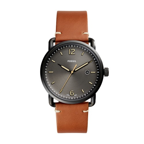 Fossil The Commuter Three-Hand Date Luggage Leather Watch FS5276