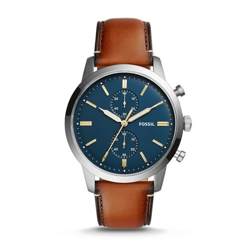 Fossil Townsman 44mm Chronograph Luggage Leather Watch FS5279