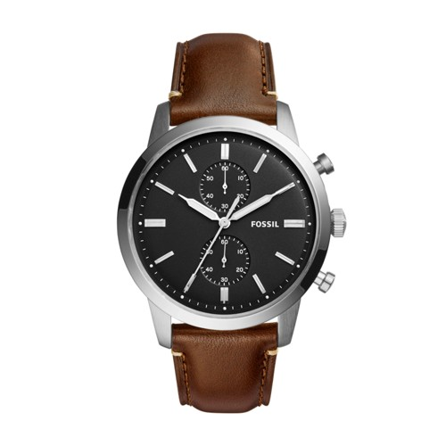 Fossil Townsman 44mm Chronograph Brown Watch FS5280