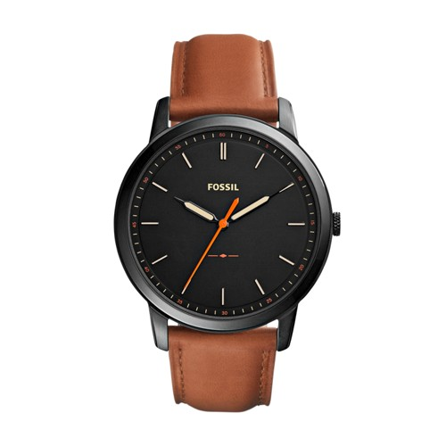 The Minimalist Slim Three-Hand Light Brown Leather Watch FS5305