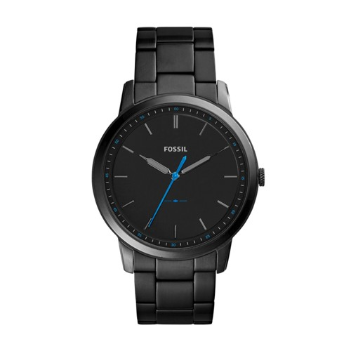 Fossil The Minimalist Slim Three-Hand Black Stainless Steel Watch FS5308