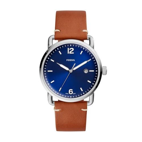 Fossil The Commuter Three-Hand Date Luggage Leather Watch FS5325