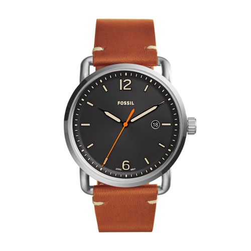Fossil The Commuter Three-Hand Date Light Brown Leather Watch FS5328