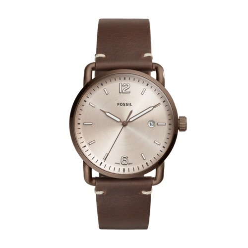 Fossil The Commuter Three-Hand Date Brown Leather Watch FS5341