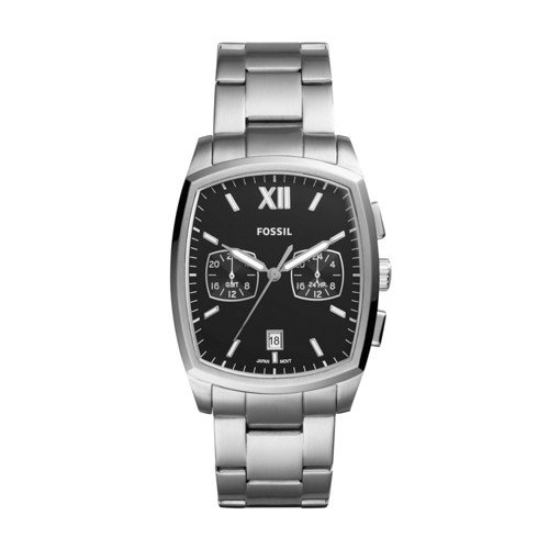 Fossil Knox Dual Time Stainless Steel Watch Fs5358