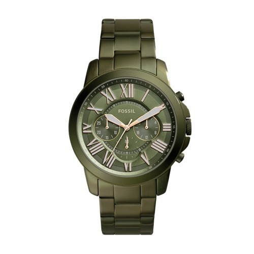 Fossil Grant Chronograph Olive Green Stainless Steel Watch Fs5375