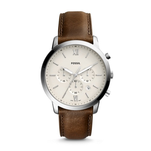 Neutra Chronograph Brown Leather Watch FS5380
