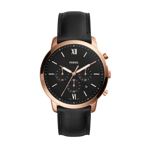 Fossil Neutra Chronograph Black Leather Watch FS5381