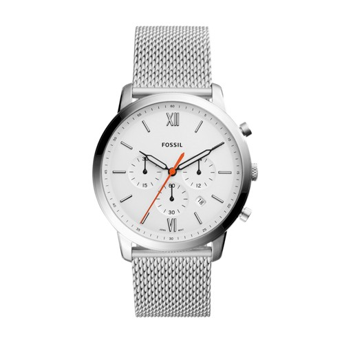 Fossil Neutra Chronograph Stainless Steel Leather Watch Fs5382 White