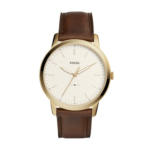 Fossil The Minimalist Three-Hand Brown Leather Watch FS5397