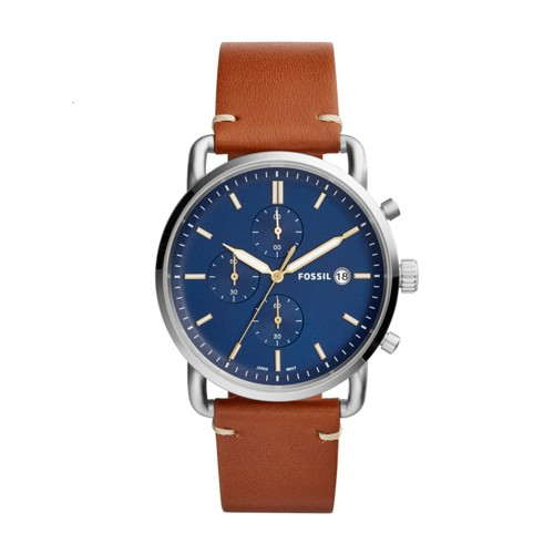 Fossil The Commuter Chronograph Light Brown Leather Watch FS5401