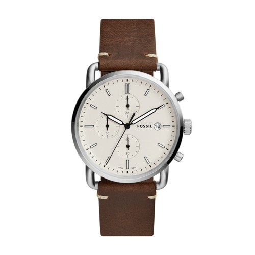 Fossil The Commuter Chronograph Brown Leather Watch FS5402