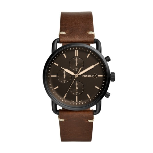 Fossil The Commuter Chronograph Brown Leather Watch FS5403