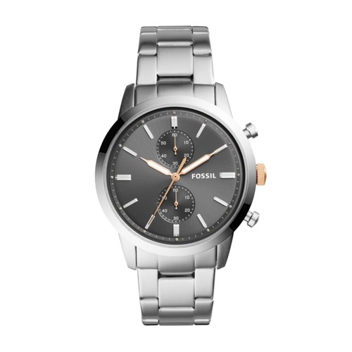 Fossil 44mm Townsman Chronograph Stainless Steel Watch FS5407