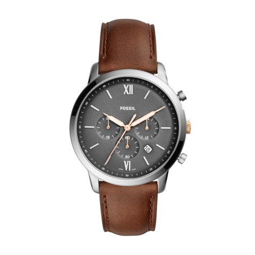 Fossil Neutra Chronograph Light Brown Leather Watch FS5408