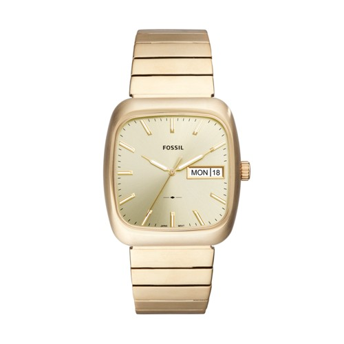 Fossil Rutherford Three-Hand Date Gold-Tone Stainless Steel Watch FS5411