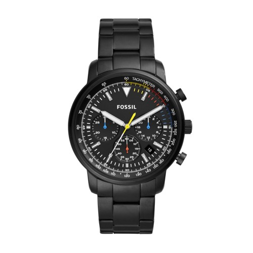 Fossil Goodwin Chronograph Black Stainless Steel Watch FS5413